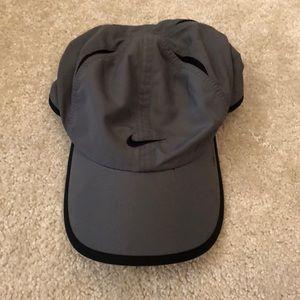 Gray Nike dry fit baseball cap